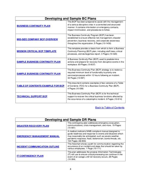 disaster recovery plan checklist template 28 images