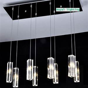 Large dining room led crystal pendant lamps lights big