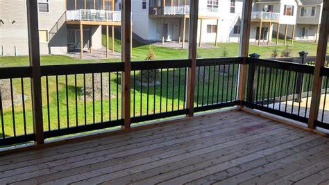 black porch railing the railing is deckorator black railing dupont
