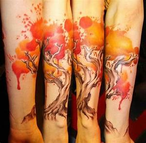 19+ Watercolor Tree Tattoos
