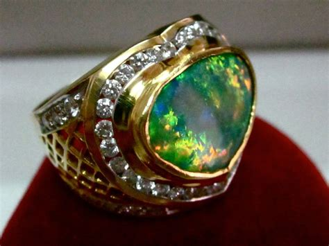 Opel Rings by Australian Opal Ring Handmade Engagement Opal Rings Opal