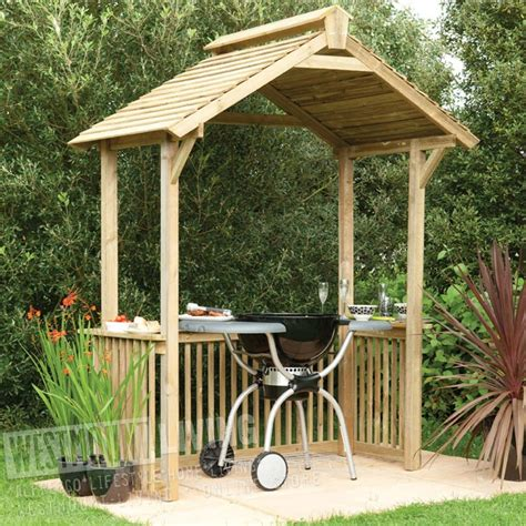 wooden garden patio bbq party canopy shelter westmount
