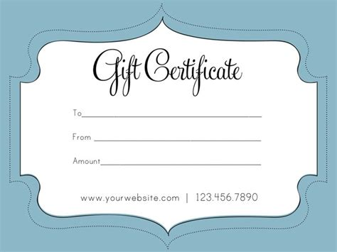 business gift certificate template auction