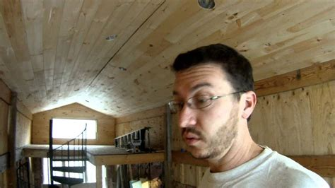 installing  tongue  groove pine   ceiling