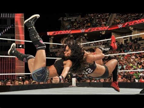 wwe raw  aj lee  nikki bella p clipzuicom
