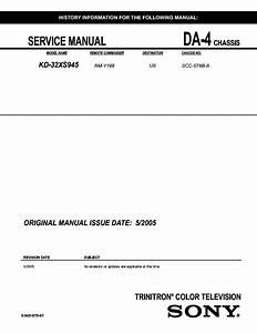Sony Video8 Combo Chassis Evdt2 Tv Vcr Service Manual Free Download  Schematics  Eeprom  Repair