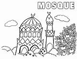 Mosque Coloring Pages Mosque1 Coloringway sketch template