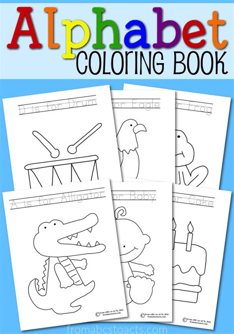 sweet alphabet coloring book lesson plans