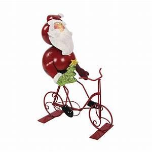 Online Shop Deko : jetzt kaufen metall deko figur mit fahrrad weihnachtsmann der daro deko online shop deko ~ Orissabook.com Haus und Dekorationen