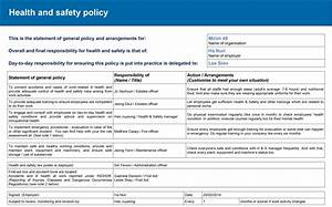 Hse Health And Safety Policy Template 6 Legal Constraints NURI HA