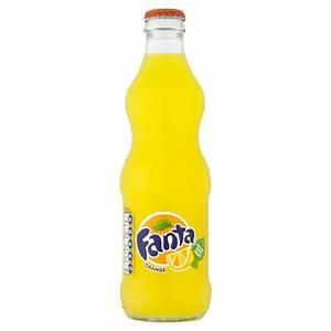 Fanta Orange Glass Bottles