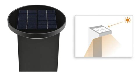 philips mygarden dusk solar powered post anthracite 1 x