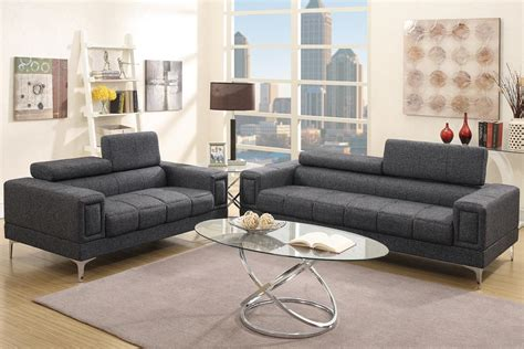 Sofa Or Loveseat by Black Fabric Sofa And Loveseat Set A Sofa