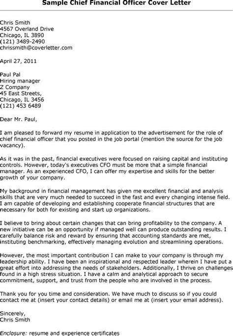Cfo Cover Letter by Cfo Cover Letter Sle Scrumps
