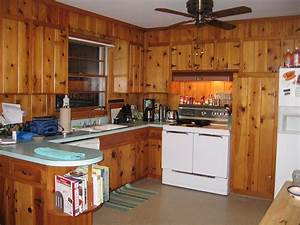 decorating ideas for tracy39s knotty pine kitchen readers With what kind of paint to use on kitchen cabinets for pet inside sticker