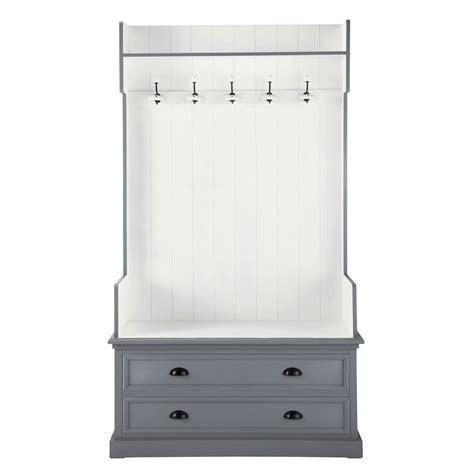 meuble d entr 233 e avec 5 pat 232 res en bois gris l 110 cm