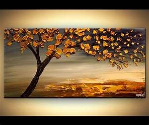 ORIGINAL Abstract Contemporary Blooming Tree Painting ...