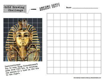 grid drawing challenge art history worksheets set