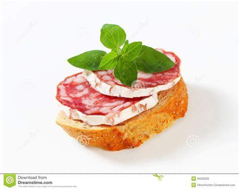 canapé français salami canape royalty free stock image image 34222526