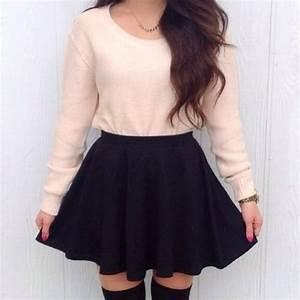 Skirt sweater underwear socks shirt black mini skirt straight skater skirt light pink ...