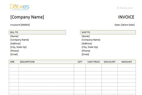 advance payment invoice template dotxes