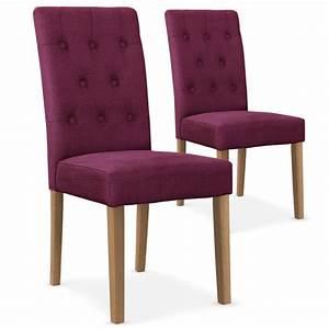 Chaise Bois Scandinave : chaises scandinave cybele tissu violet lot de 2 pas cher ~ Teatrodelosmanantiales.com Idées de Décoration