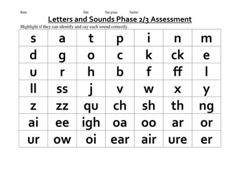 Phase 25 Phonic Assessments By Tda8017572  Teaching Resources Tes