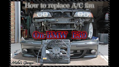how to replace auxiliary cooling fan on bmw 540i e39 как поменять вентилятор кондиционера на