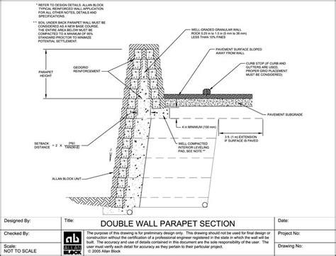 design detail drawings  modular segmental retaining wall