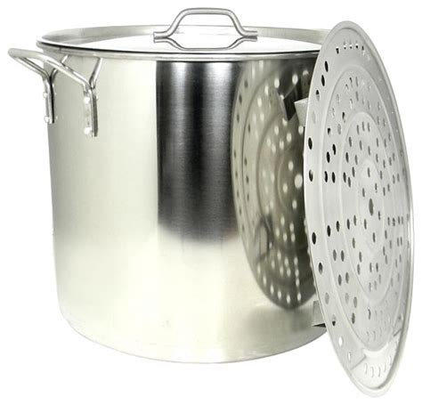 large steamer pot 60 qt large stainless steel stock pot steamer insert rack 3669