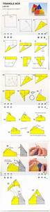 Diagramme Origami Modulaire Bo U00eete Triangulaire Avec