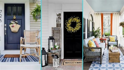 Diy Shabby Chic Style Rustic Summer Front Porch Decor