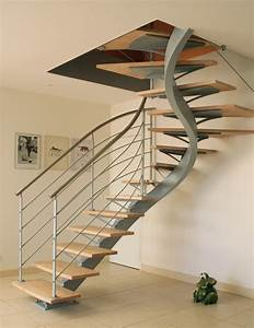 Escalier 3 4 Tournant : escalier limon central 2 4 tournant home pinterest ~ Dailycaller-alerts.com Idées de Décoration