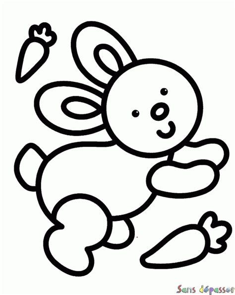 chambre b2b2 coloriage lapin et carotte sans dépasser