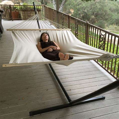 Hammock As A Bed by Wide 59 Quot Swing Size Canvas Bed Hammock