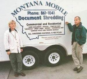 Entrepreneur montana mobile document shredding protects for Mobile document shredding billings mt