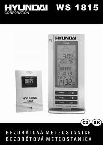 Hyundai Ws 1815 Weather Stations Download Manual For Free