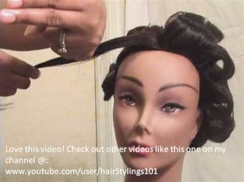 "How To Do Perfect ""Pin Curls""!   YouTube"