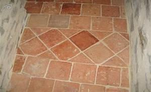 carrelage imitation tomette tomettes anciennes hexagonales With carrelage terre cuite exterieur