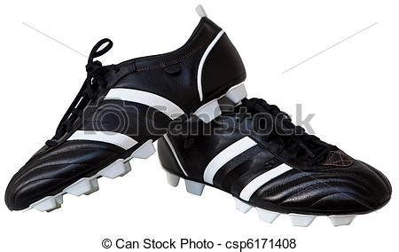 soccer shoes pair black leather soccer shoes isolated