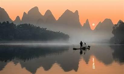 Li River China Landscape Desktop Mobile Phones
