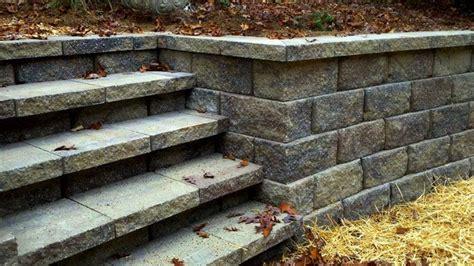 pavestone retaining wall corner blocks installed