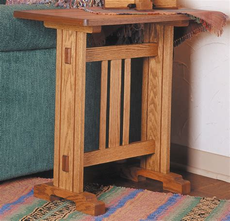 arts crafts oak  table plans wood projects