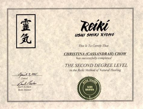 Reiki Level 1 Certificate Template by Reiki Brochure Brigid S