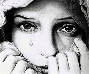 Drawing of a sad girl - good - thru her eyes | Art ...