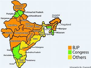 Infographic: States ruled by the BJP in 2017 - Oneindia