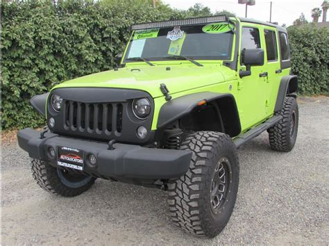lifted jeep green 2017 jeep wrangler unlimited lifted hyper green