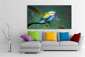 Tableau Deco Design : tableau design xxl oiseau izoa ~ Melissatoandfro.com Idées de Décoration