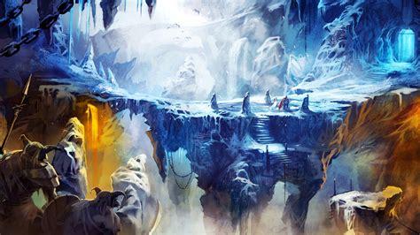Full HD Wallpaper trine 2 ice cave precipice art, Desktop ...