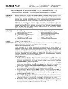 cio resume sample cio sample resume for examples information technology chief officer example free share the